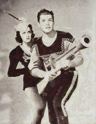 Musician Royalty-Free and Rights-Managed Images - Flasj Gordon and Dale Arden, Vintage Sci-Fi by Sarah Kirk