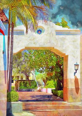 Digital Art - Flat Arch In Santa Barbara by Viktor Savchenko