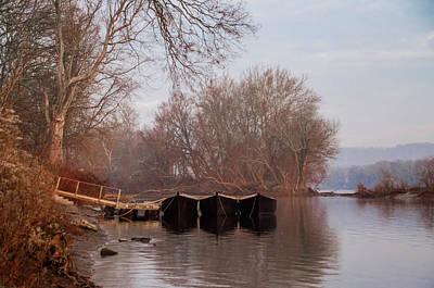 Washingtons Crossing Photograph - Flat Boats - Washingtons Crossing by Bill Cannon