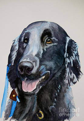 Painting - Flat Coat by Susan Herber
