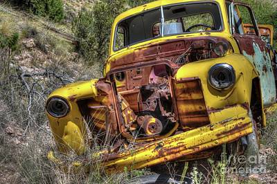 Vandalize Photograph - Flat Head Chevy by Thomas Todd
