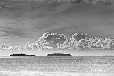 Photograph - Flat Holm And Steep Holm Mono by Steve Purnell