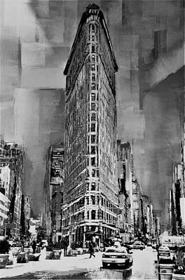 Photograph - Flat Iron Building B W by Rob Hans