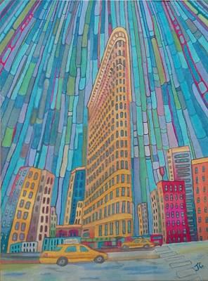 Flat Iron Building Print by John Cunnane