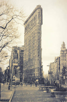 Flat Iron Building North Side - Sketch Art Print
