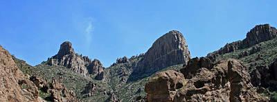 Flat Iron Superstition Mountains Art Print by Chuck Wedemeier