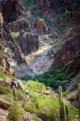 Photograph - Flat Iron Waterfall Basin by Sandra Parlow
