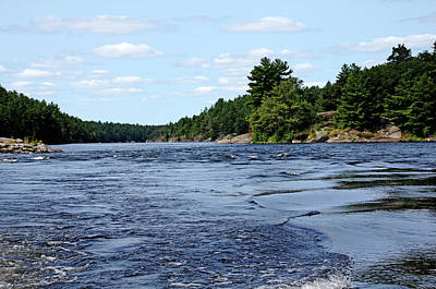 Photograph - Flat Rapids French River by Debbie Oppermann