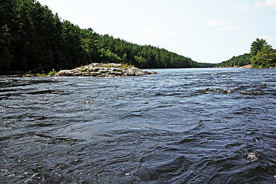 Photograph - Flat Rapids French River I by Debbie Oppermann