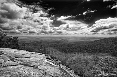 Photograph - Flat Rock Vista Bw by David A Lane