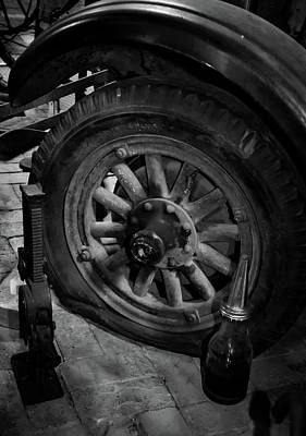 Pyrography - Flat Tire by Douglas Milligan