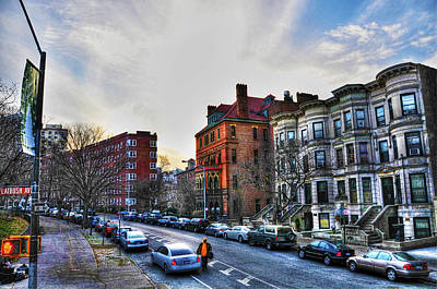 Brownstones Photograph - Flatbush Ave In Brooklyn by Randy Aveille