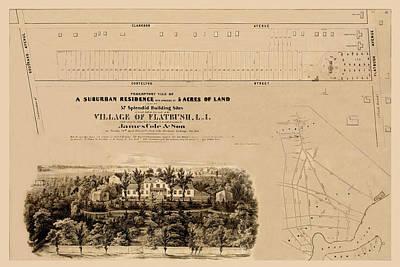 Photograph - Flatbush Real Estate 1855 by Andrew Fare