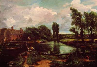 Painting - Flatford Mill From A Lock On The Stour 1811 by Constable John