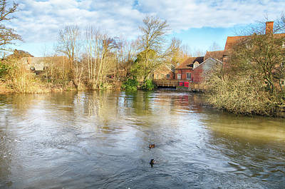 Photograph - Flatford Mill On The Stour by Leah Palmer
