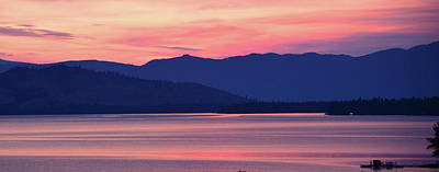 Flathead Lake At Sunrise Art Print