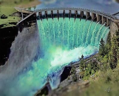 Montana Digital Art - Flathead Lake Kerr Dam by Russ Harris