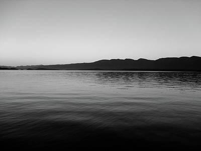 Photograph - Flathead Lake Monochromatic by Robert Meyers-Lussier