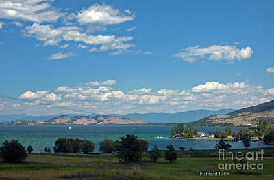 Photograph - Flathead Lake Mt by Cindy Murphy - NightVisions
