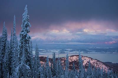Photograph - Flathead Lake Winter by Jedediah Hohf