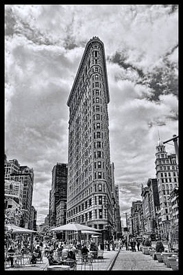 Flatiron Building B And W Art Print by Allen Beatty
