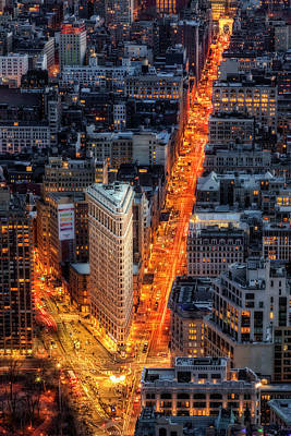 Photograph - Flatiron Building District Nyc by Susan Candelario