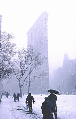 Photograph - Flatiron Building In A Snowstorm by Tom Wurl