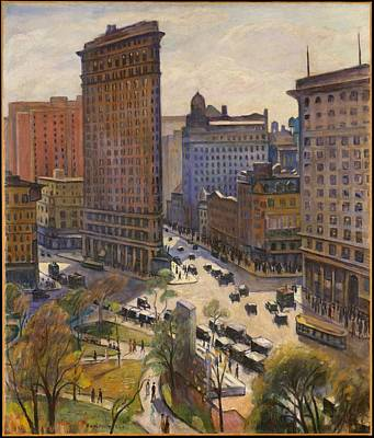 Painting - Flatiron Building New York By Samuel Halpert by Samuel Halpert