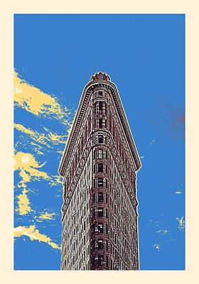 Painting Royalty Free Images - Flatiron Building, New York, United States Royalty-Free Image by Celestial Images