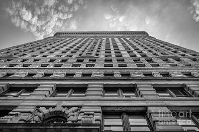 Photograph - Flatiron Building Sky Black And White by Alissa Beth Photography
