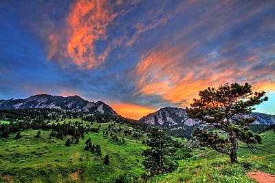 Fort Collins Photograph - Flatiron Glow by Scott Mahon