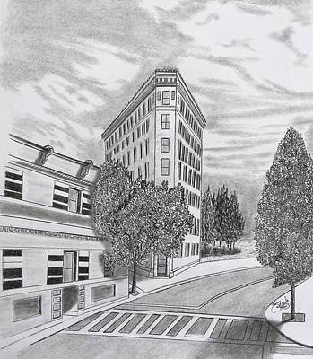 Drawing - Flatiron In Asheville  by Tony Clark