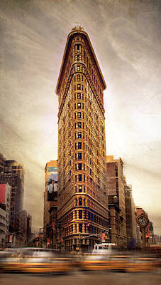 Traffic Digital Art - Flatiron  by Jessica Jenney