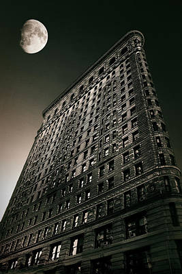 Photograph - Flatiron Moonlight by Jessica Jenney