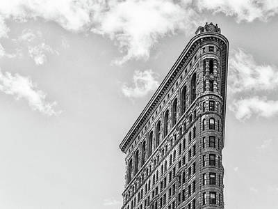 Photograph - Flatiron Profile Bw by Framing Places