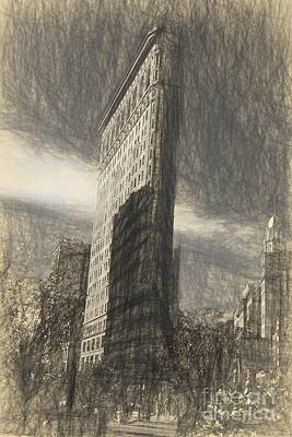 Photograph - Flatiron Sketch By Da Vinci by David Bearden