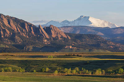 Photograph - Flatirons And Longs Peak by Aaron Spong