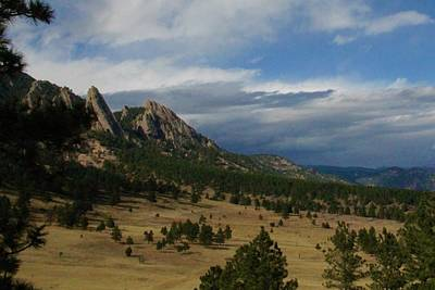 Photograph - Flatirons, Boulder, Colorado by Christopher Kirby