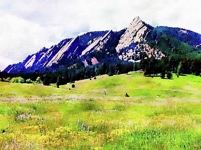 Digital Art - Flatirons - Boulder, Colorado by Joseph Hendrix