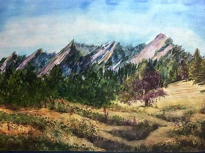 Painting - Flatirons In Summer by Carol Warner