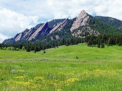 Digital Art - Flatirons Of Boulder, Colorado by Joseph Hendrix