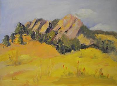 Painting - Flatirons by Sally Bullers