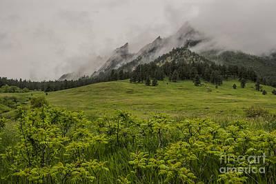 Photograph - Flatirons Spring Rain by Greg Summers