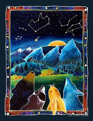 Bear Cub Painting - Flatirons Stargazing by Harriet Peck Taylor