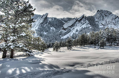 Photograph - Flatirons Tracks by Greg Summers