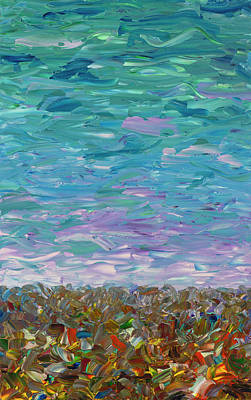 Painting - Flatland - Cloudy Day by James W Johnson