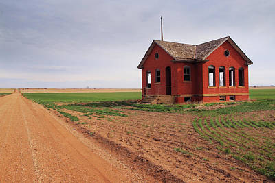 Photograph - Flatland Schoolhouse by Christopher McKenzie