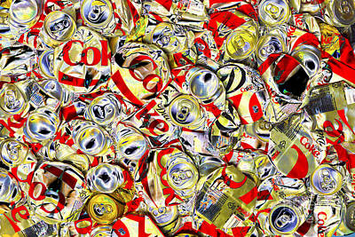 Flattened Coke Cans Art Print