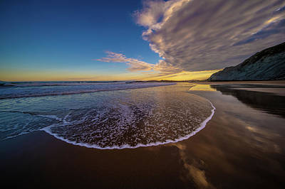 Photograph - Flattening Wave At Zumaia Beach, Spain by Judith Barath