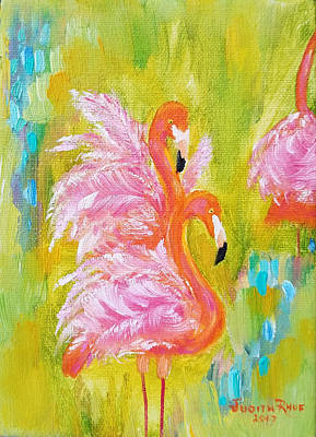 Painting - Flaunting Feathers by Judith Rhue